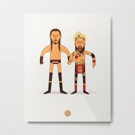Enzo Amore & Big Cass - Pro Wrestling Illustration Metal Print
