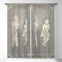 toilet public Sheer Curtain