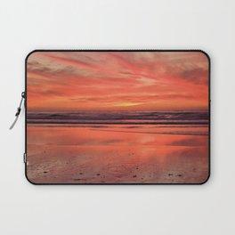 Sky on  Fire - At the Beach Laptop Sleeve