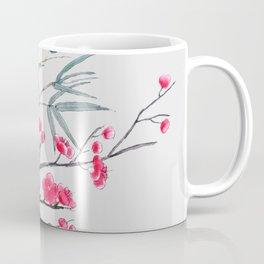 bamboo and red plum flowers Coffee Mug