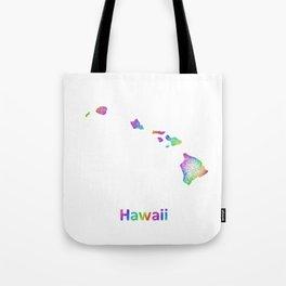 Rainbow Hawaii map Tote Bag