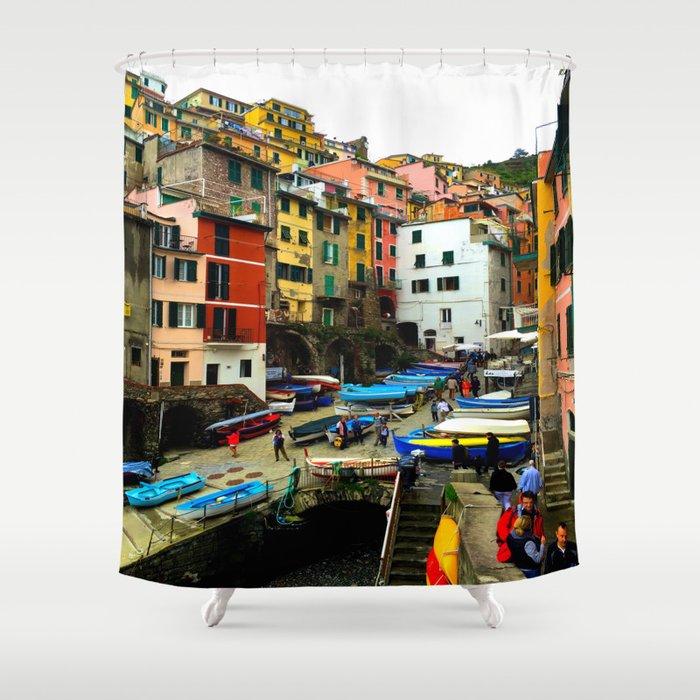 Cinque Terre - Riomaggiore Shower Curtain