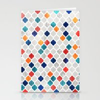 moroccan Stationery Cards featuring Sea & Spice Moroccan Pattern by micklyn