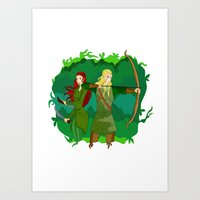 legolas Art Prints featuring Legolas by hikary
