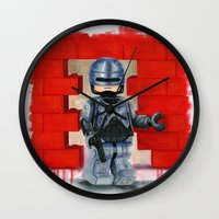 robocop Wall Clocks featuring Lego Robocop by Toys 'R' Art