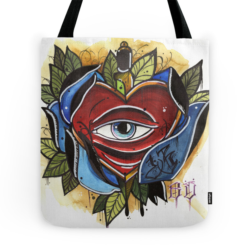 Heart Into A Rose Tote Purse by adrianamarquez (TBG9863206) photo