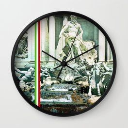 Italian Trevi fountain Rome Wall Clock