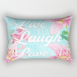 Live Laugh Love Rectangular Pillow