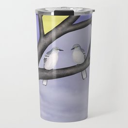 northern mockingbirds in the stained glass tree Travel Mug