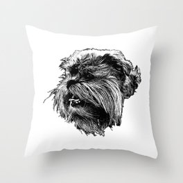 St: Simeon Griffon Bruxellois Throw Pillow