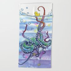 Bath Time Octopus Beach Towel