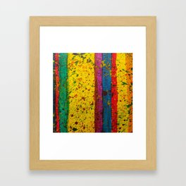 Rainbow Abstract # 20 Framed Art Print