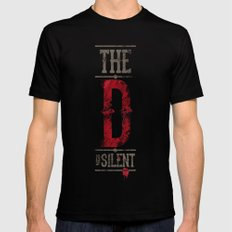 Django - The D is silent LARGE Mens Fitted Tee Black