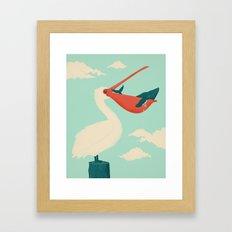 Big Catch Framed Art Print