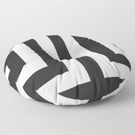 Black Greek Stripes Floor Pillow