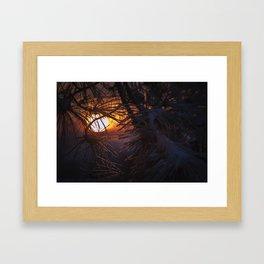 winters warm embrace Framed Art Print
