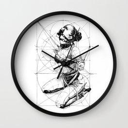 Restrained In Geometry. ©Yury Fadeev Wall Clock