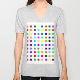 Colorful Squares Unisex V-Neck