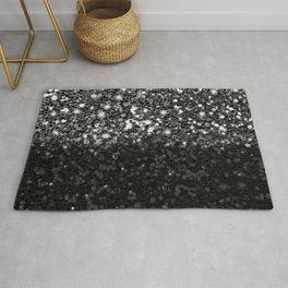 Black & Silver Glitter Gradient Rug