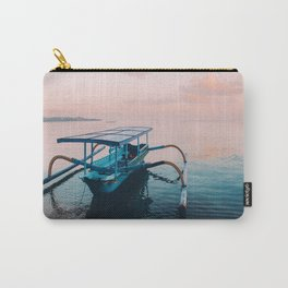 Indonesian boat at dawn Carry-All Pouch