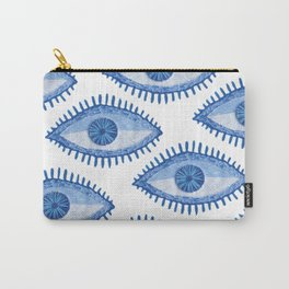 Embroidered evil Eyes Carry-All Pouch