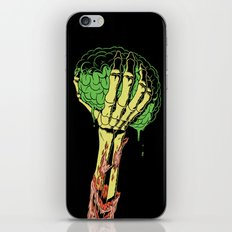 Zombie Skeleton Brain Vintage iPhone & iPod Skin