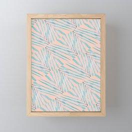 Palm Leaves Coral Framed Mini Art Print