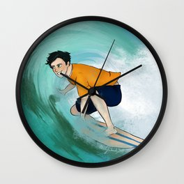 Percy Surfing Wall Clock