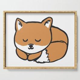 Sleeping Kawaii Fox Serving Tray