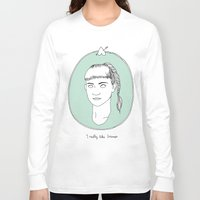 grimes Long Sleeve T-shirts featuring Grimes by Anna Wanda Gogusey