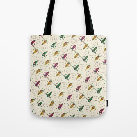 Beautiful Insects Pattern Tote Bag