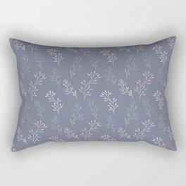 purple botanical gentle female seamless pattern Rectangular Pillow