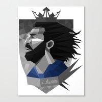 pirlo Canvas Prints featuring Pirlo Design by Robin Gundersen