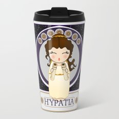 Kokeshi Philosopher Hypatia of Alexandria (Agora) Travel Mug