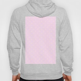Cream Yellow on Pink Lace Snowflakes Hoody