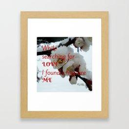 Love Yourself  Merry Christmas Edition Treasure Framed Art Print