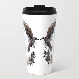 Black Ravens In The Crystal Woods Travel Mug