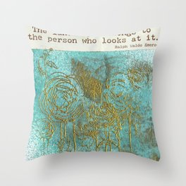 Emerson's Field of Flowers Throw Pillow