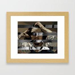 Courbet's The Desperate man & James Stewart Framed Art Print
