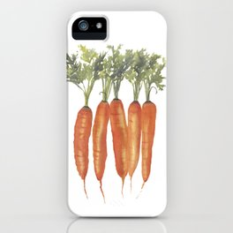 Carrots Watercolor iPhone Case