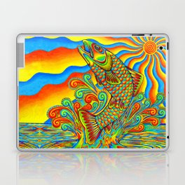 Psychedelic Rainbow Trout Fish Laptop & iPad Skin