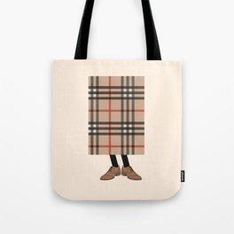 Check out Mr. Check Tote Bag