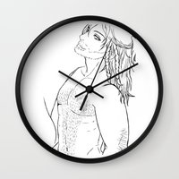 "kili Wall Clocks featuring Kili "" the hobbit"" by Selis Starlight"