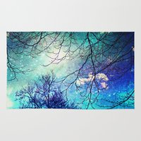night sky Area & Throw Rugs featuring night sky by Sylvia Cook Photography