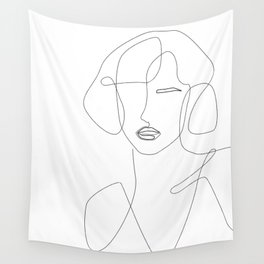 Abstract Beauty Outline Wall Tapestry