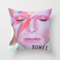 Bowie I Throw Pillow