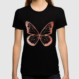 Rose Gold Butterflies T-shirt