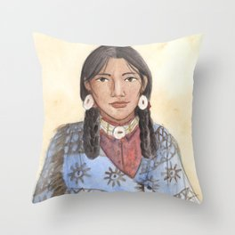 Her Mother's Blanket Throw Pillow