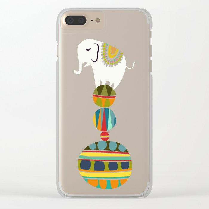 Elephant Circus Clear iPhone Case