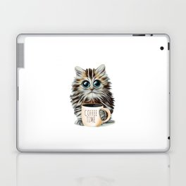 cat coffee time Laptop & iPad Skin